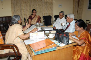 NAAC_Team_Review_With_Principal